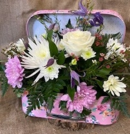 Suitcase flowers quirky