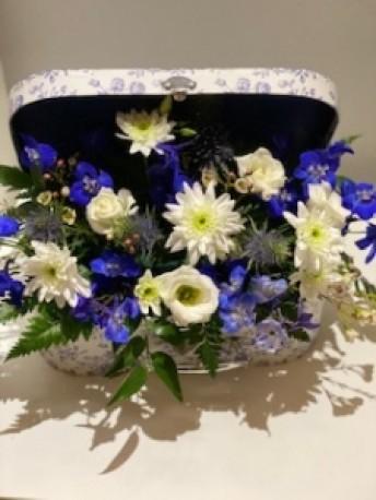 Sweet blue suitcase